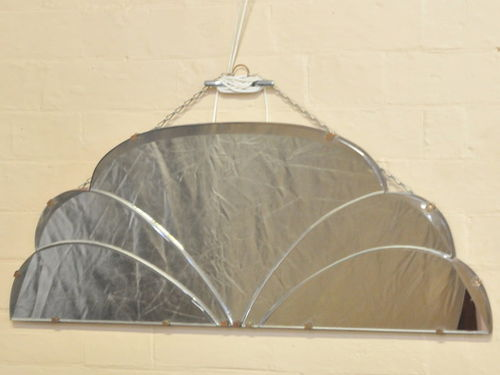Deco Wall Mirror | Period: Art Deco | Material: Bevel edge mirror glass.