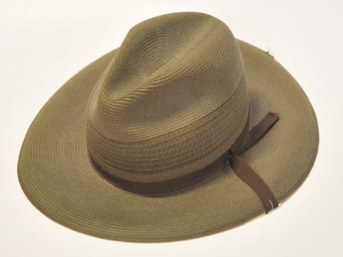 Men's Hat | Period: c1960s | Material: Polyester straw