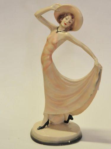 Art Deco Figurine | Period: c1940s | Material: Plaster