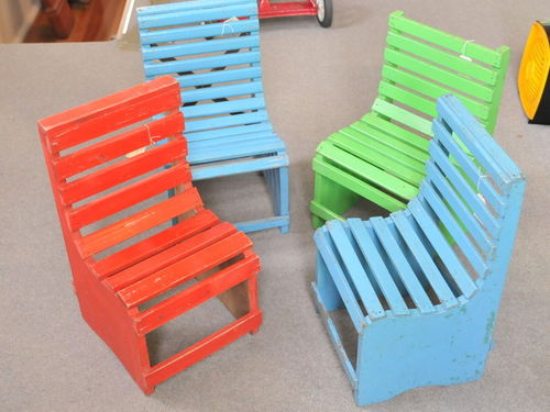 Set 4 Child's Chairs | Period: c1950s | Material: Timber