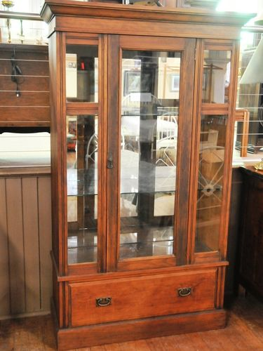 Tall Display Cabinet | Period: Edwardian c1910 | Material: Pine