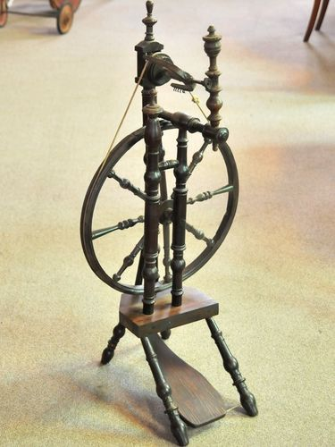 Spinning Wheel | Period: Georgian c1830 | Material: Oak and other timbers