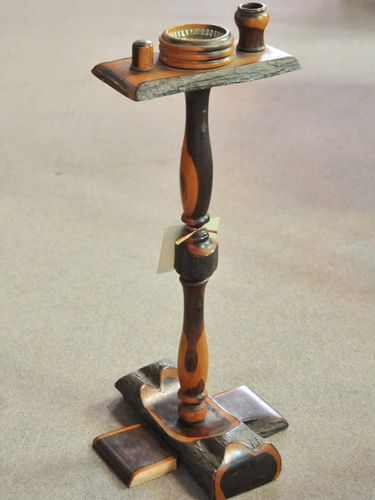 Smokers Stand | Period: Art Deco c1930s | Material: Mulga wood