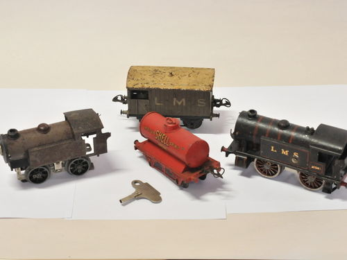 Train Set | Period: c1930 | Make: Meccano Ltd- Hornby Series | Material: Tin Plate and Steel