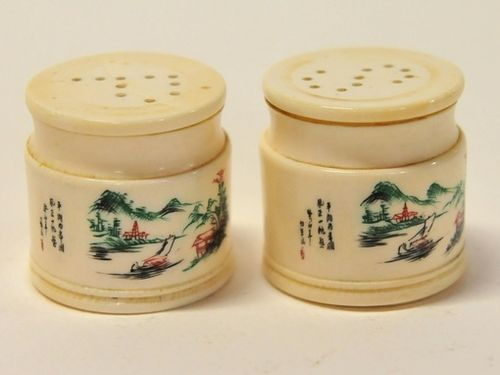 Ivory Salt & Pepper | Period: c1920s | Material: Ivory