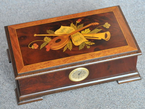 Inlaid Jewellery Box | Period: c1990 | Material: Various timbers