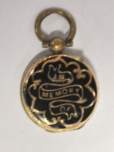 Mourning Locket | Period: Victorian c1880 | Material: Pinchbeck