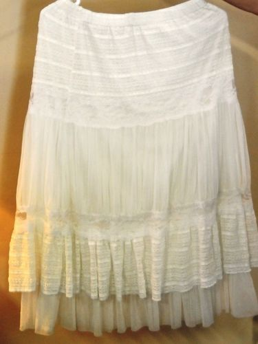 Lace Petticoat | Period: 1950s | Make: Handmade | Material: Lace & nylon net