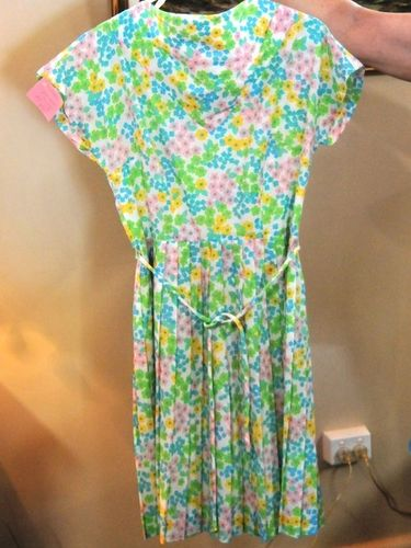 Flowery Dress | Period: 1950s | Make: Handmade | Material: Cotton