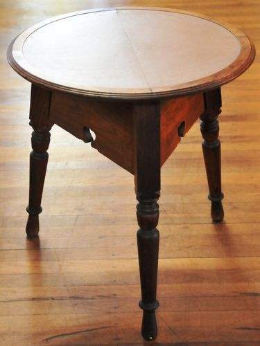 Cricket Table | Period: c1920s | Material: Oak with linoleum top insert