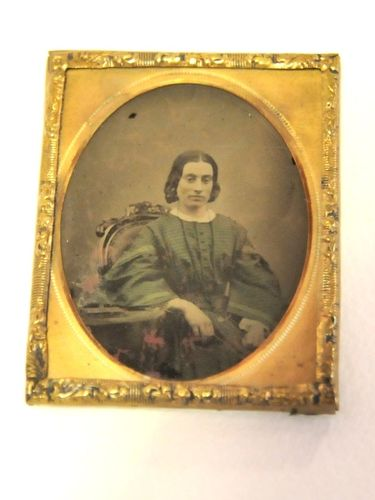 Ambrotype Photograph | Period: c1870s | Material: Brass framed.