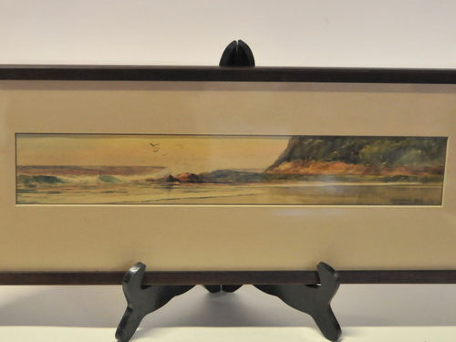 Simpson Watercolour Seascape | Period: 1926 | Make: H. C. Simpson | Material: Watercolour on card