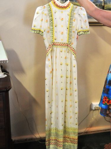 Maxi Dress | Period: 1970s | Make: Handmade | Material: Cotton