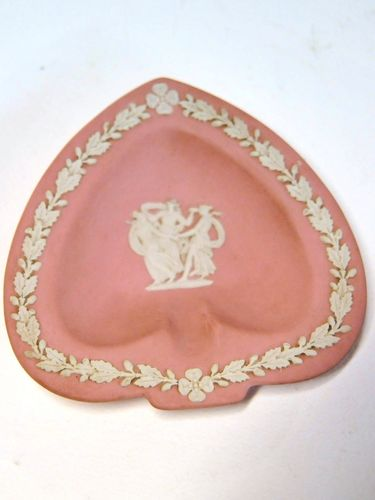 Wedgwood Ashtray | Period: 1980 | Make: Wedgwood | Material: Pink Jasperware porcelain