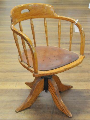 Swivel Captain Chair | Period: Edwardian c1910 | Material: Oak