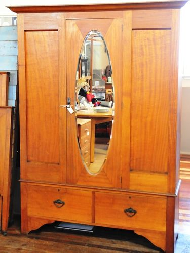 Maple Double Wardrobe | Period: Art Deco c1920s | Make: F. Tritton | Material: Maple
