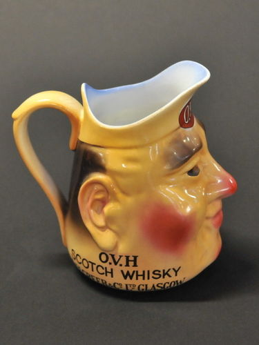 O.V.H. Scotch Whisky Jug | Period: c1930s | Make: Associated Potteries | Material: Porcelain