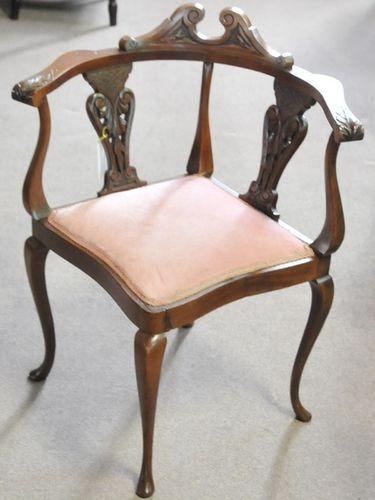 Corner Chair | Period: Art Deco c1920s | Material: Mahogany