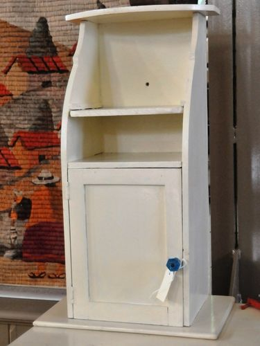 Wall Cupboard | Period: Edwardian c1910 | Material: Cream Painted Pine
