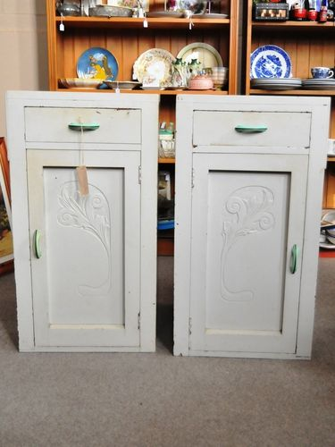 Pair Bedside Cabinets | Period: Art Deco c1930s | Material: Silky Oak